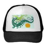 Gorras del dragón del mar profundo (verde)