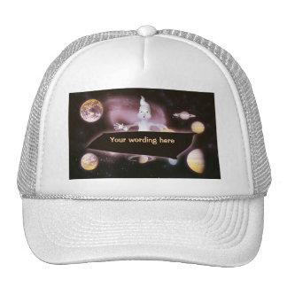Gorras del fantasma de la sorpresa del espacio y c