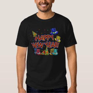 Gorras del fiesta de la Feliz Año Nuevo Remera