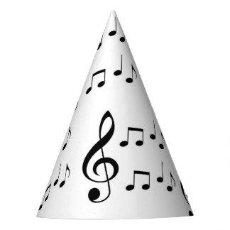 """""""Gorras del fiesta de las notas de la música"""" Gorro De Fiesta"""