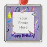 Gorras del fiesta del feliz cumpleaños (marco de l ornamentos para reyes magos