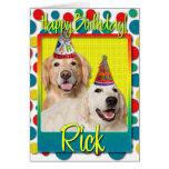Gorras del fiesta del feliz cumpleaños tarjetas