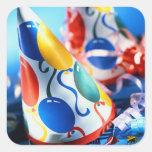 Gorras del fiesta calcomanía cuadrada personalizada