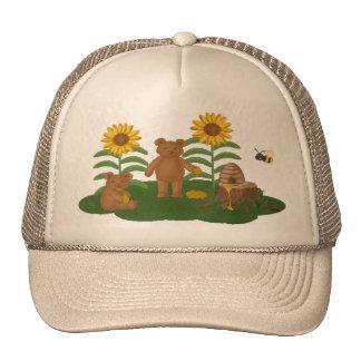 Gorras del oso de miel