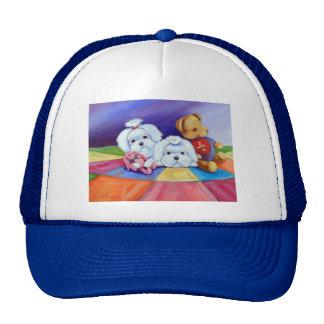 Gorras del perro maltés