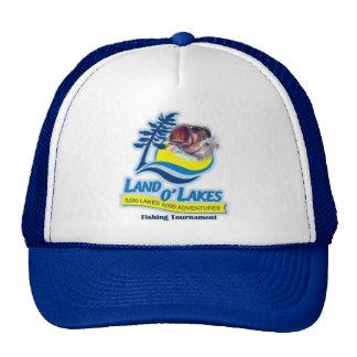 Gorras del torneo de la pesca de lagos O de la tie