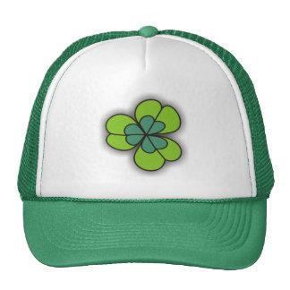 gorras del verde del trébol del dibujo animado 3D