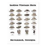 Gorras del vintage de las señoras personalizados postal