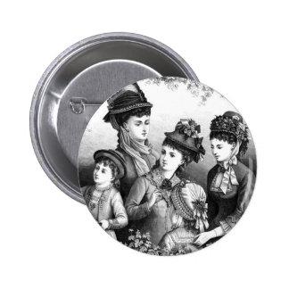 Gorras del vintage pin redondo de 2 pulgadas