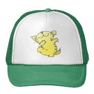 Gorras gordos divertidos del bailarín del gatito
