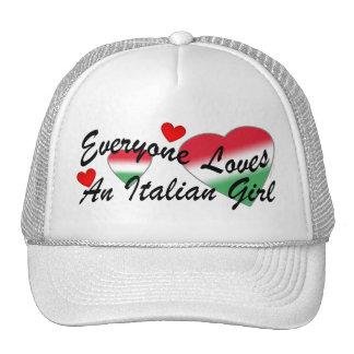 Gorras italianos del chica de los amores