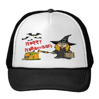 Gorras lindos de la bruja de Halloween