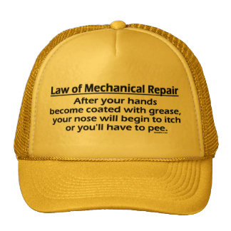 Gorras mecánicos de la reparación