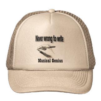 Gorras musicales del truker del genio