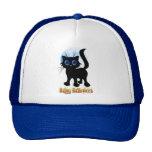 Gorras negros del gatito del feliz Halloween