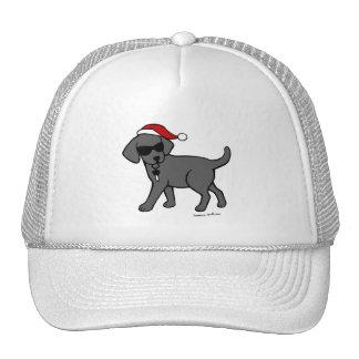 Gorras negros frescos del navidad del dibujo