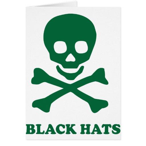 ** Gorras negros ** Tarjeta De Felicitación