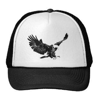 Gorras negros y blancos de Eagle