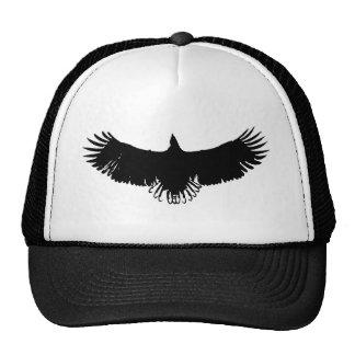 Gorras negros y blancos de la silueta de Eagle