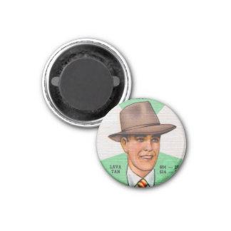 Gorras para hombre Fedora de Swann del kitsch retr Imán Redondo 3 Cm