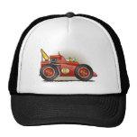 Gorras rojos del coche de carreras de Indy