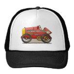 Gorras rojos del coche de carreras del vintage