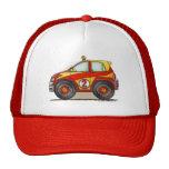 Gorras rojos del coche de la reunión