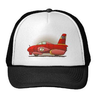 Gorras rojos del coche de la velocidad de la tierr