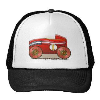 Gorras rojos del cuadro de coche del jabón