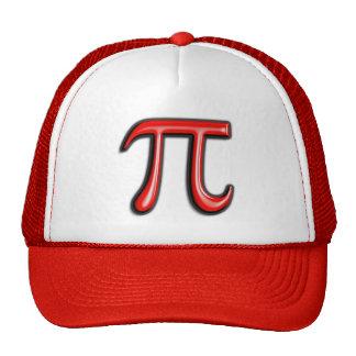 Gorras rojos del símbolo de 3D pi