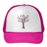 Gorras rosados acodados del árbol de los lunares