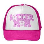 Gorras rosados de la mamá del fútbol
