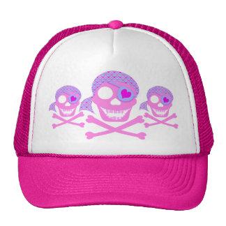 Gorras rosados del cráneo del pirata