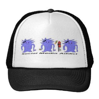 Gorras sociales del camionero del adicto a los med