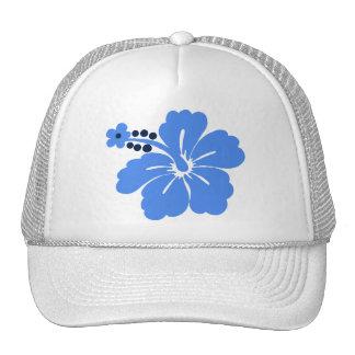 Gorras tropicales del camionero del hibisco de