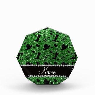 Gorras verdes conocidos de encargo de las botas de