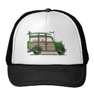 Gorras verdes del carro de Woody