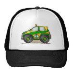 Gorras verdes del coche de la reunión