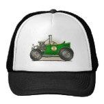 Gorras verdes del coche del coche de carreras