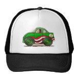 Gorras verdes del stock car