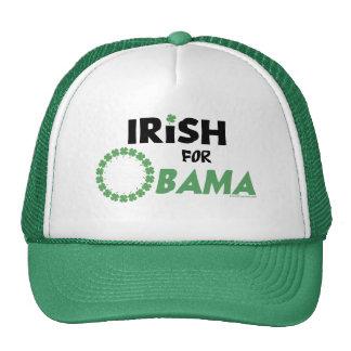 Gorras y Swag de Obama del irlandés