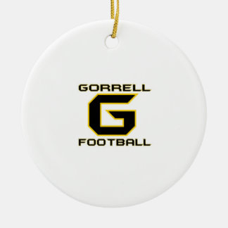 Gorrell Gorrillas Football Double-Sided Ceramic Round Christmas Ornament