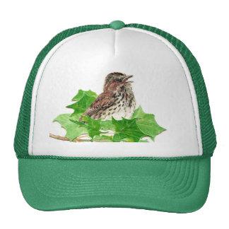 Gorrión de canción, pájaro lindo, Birder, naturale Gorros Bordados