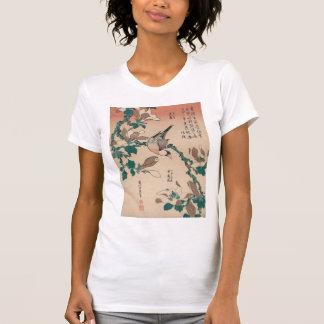 Gorrión de Hokusai Java en la magnolia GalleryHD Playeras