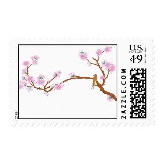 Gorrión en el árbol 2 - sello