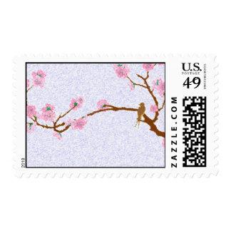Gorrión en el árbol - 5 sellos postales