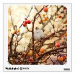 Gorrión en un manzano De cangrejo