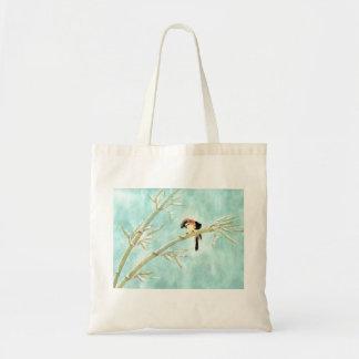 Gorrión japonés en invierno bolsa tela barata