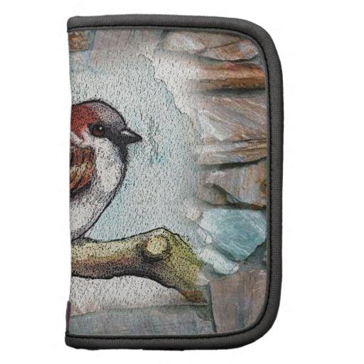 Gorrión: Pájaro, acuarela, piedras, rocas Planificadores