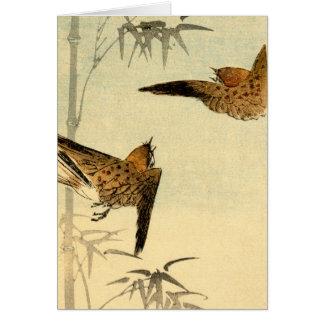 Gorriones japoneses no.1 tarjeta pequeña
